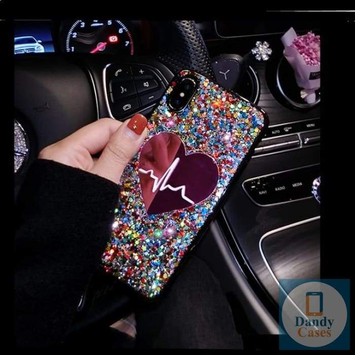 Your Heartbeat Handcrafted Glitter Sequin Phone Case For iPhone and Samsung