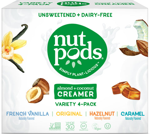 nutpods unsweetened dairy free coffee creamer (french