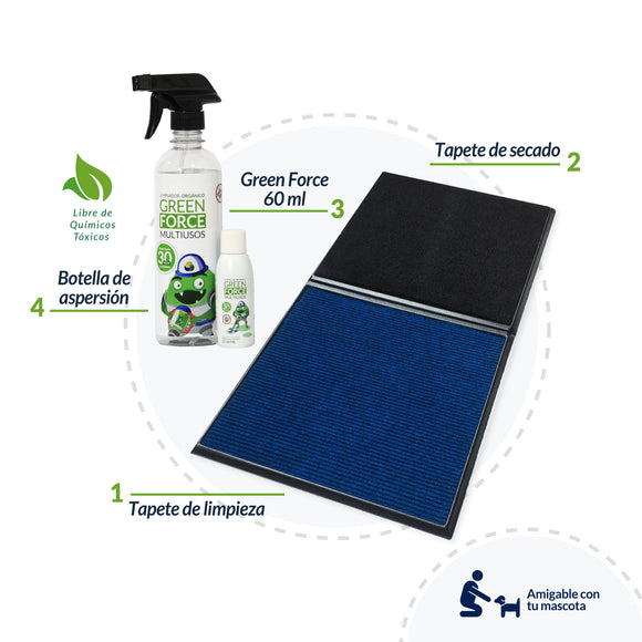 Tapete Sanitizante + Green Force 60ml + ENVÍO GRATIS