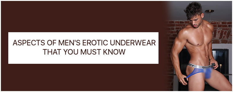 Aspects of Men's Erotic Underwear that you must know