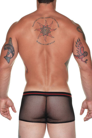 Male Power 158-156  Sheer Fishnet Wings Short