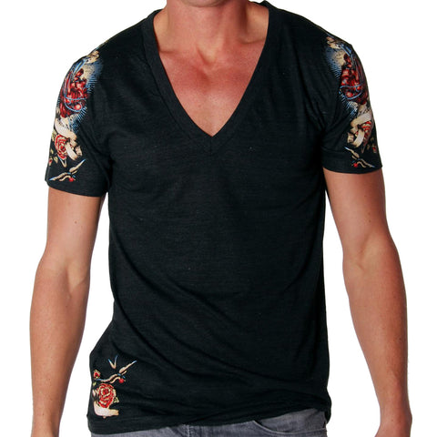 Andrew Christian AND1762 Trigger Deep V-Neck Tee