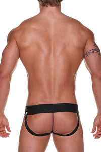 DMK JB2  Jockstrap White with Black Stripe