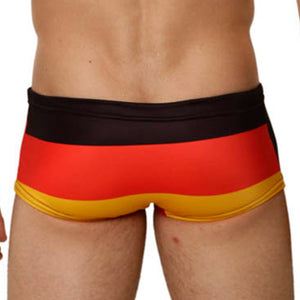 Mensuas MN8003 Germany Flag Swim Trunks