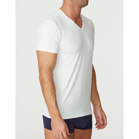 Parker & Max PMFP-TVN1  Micro Luxe V-Neck T-Shirt