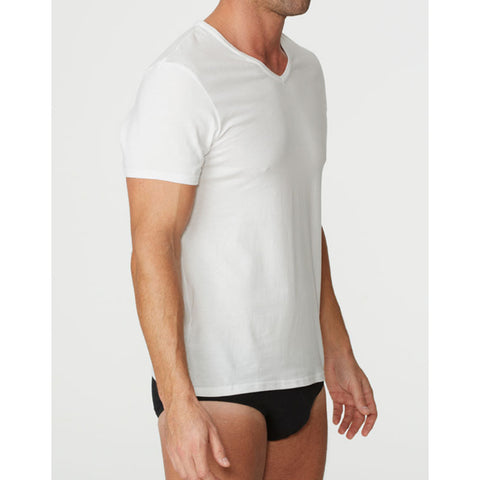 Parker & Max PMFPCS-TVN1  Classic Cotton Stretch V-Neck T-Shirt