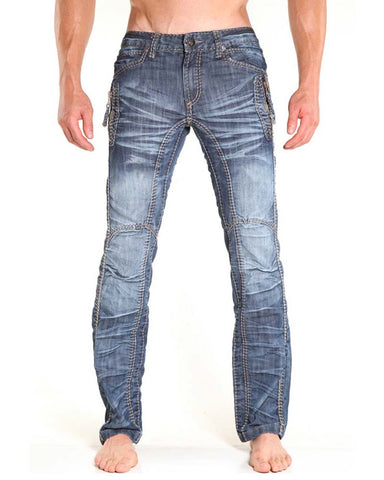 Nuwear KM120  Zip Tight Light Wash Designer Jean