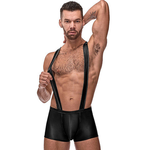 Male Power 148261 Cage Matte Back Singlet Short