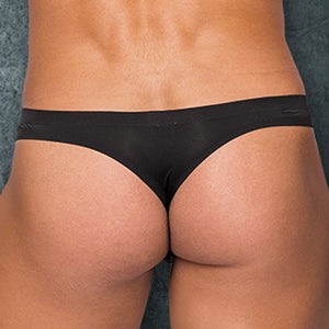 Male Power MPSMS007 Sleek Thong w/ sheer pouch