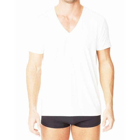 Parker & Max PMFP-TDVN1  Micro Luxe Deep V-Neck T-Shirt