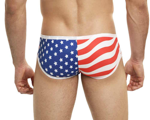 Mensuas MN0827 USA Flag Boxer Briefs