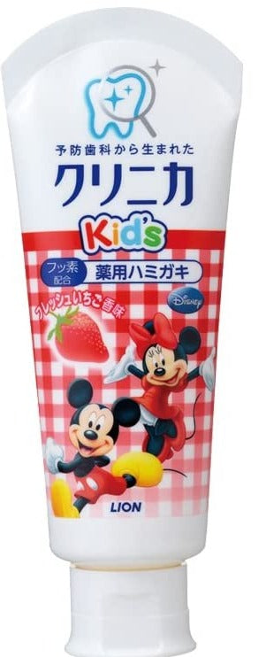LION Mickey Kid's 牙膏-草莓味60g