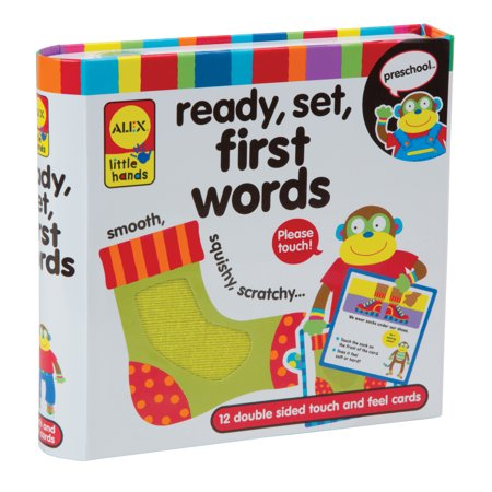 ALEX Toys Little Hands Ready Set - Touch & Feel First Words Flash Cards