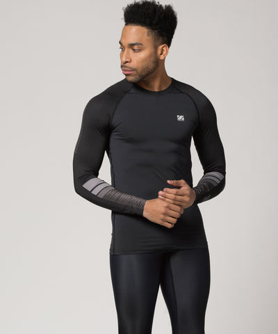black compression fit shirt