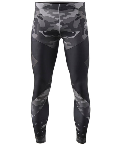black camo pattern leggings