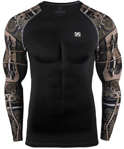 machine long sleeve compression rashguard
