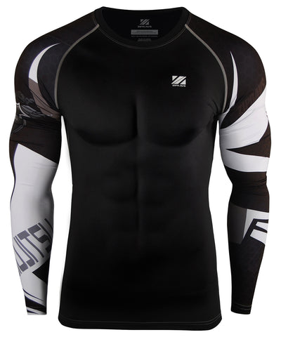 white line design compression gear