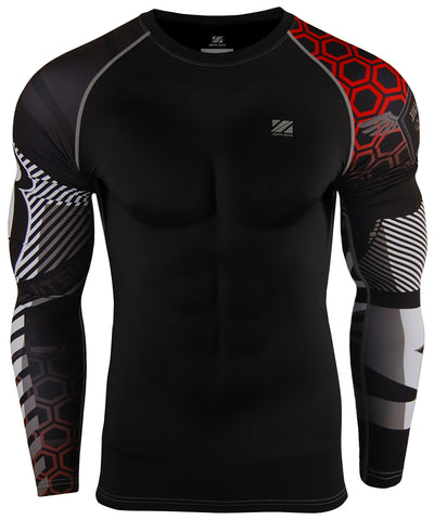 essentials long sleeve compresion rash guard
