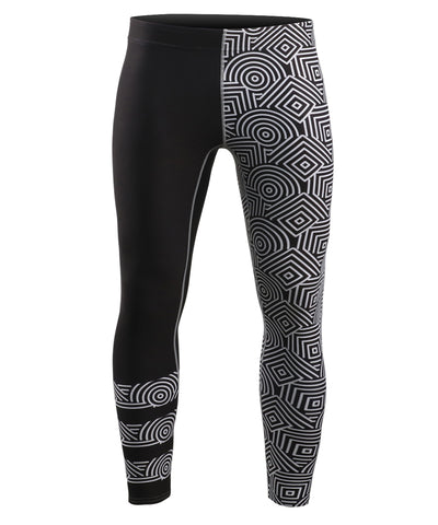 gym compression tight pants line pattern design