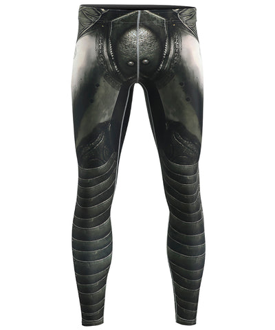 knight armor design compression tight leggings