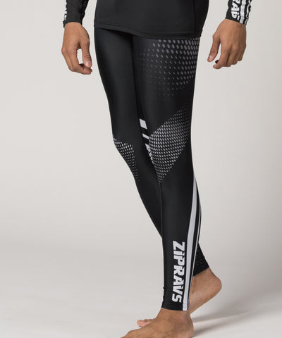 black compression tight pants