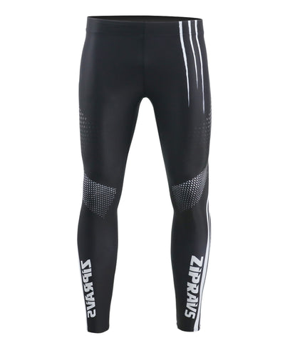 black activewear white stripe design compression leggings