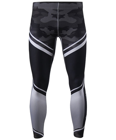 white stripe & camo pattern compression leggings