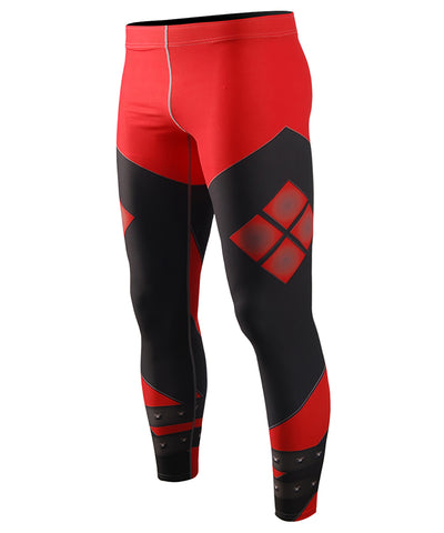 red compression tight leggings