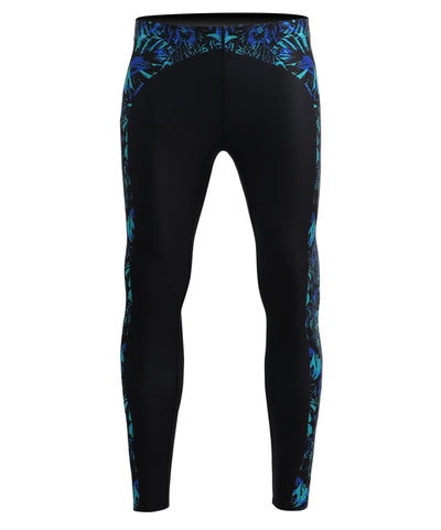 blue compression surf leggings