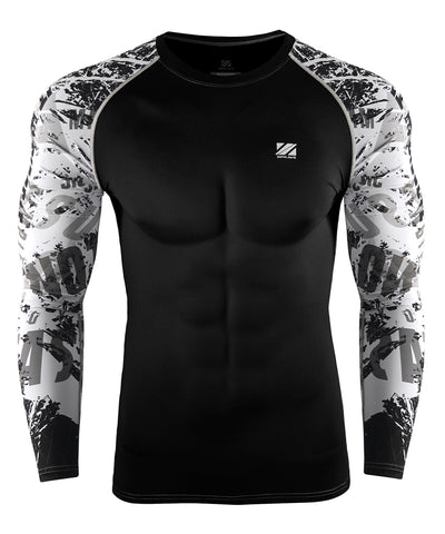 white gymwear activewear compression rash guard