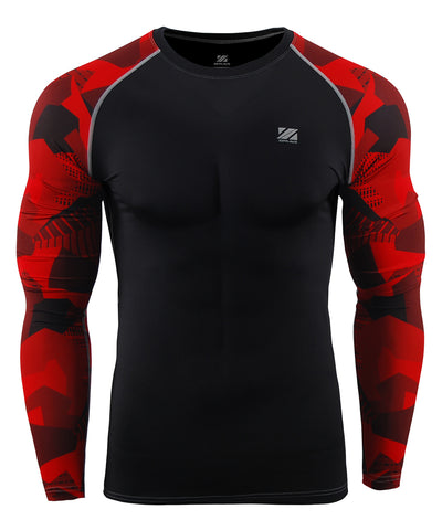 red compression tight long sleeve