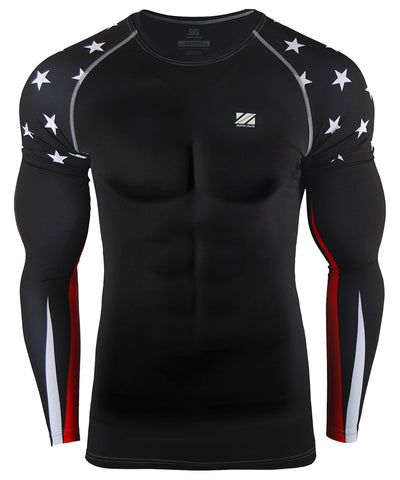 white star compression long sleeve rashguard