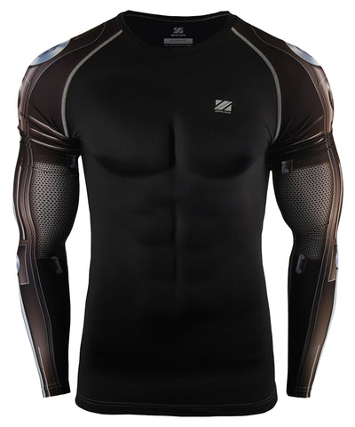 hero design compression tight fit rash guard
