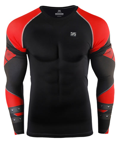 red compression long sleeve