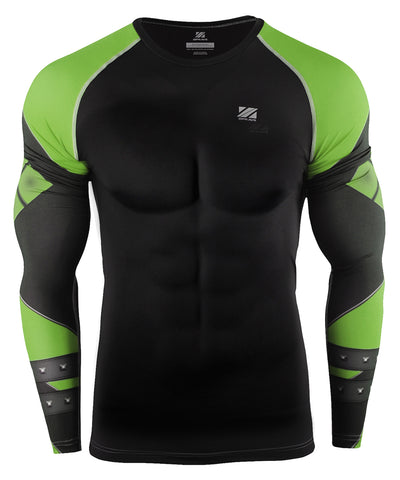 green compression tight rashguard
