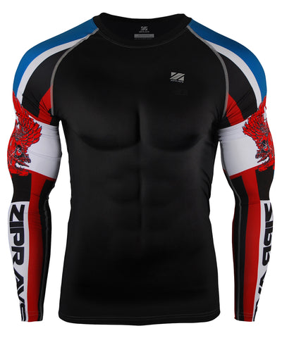 compression tight fit long sleeve rash guard