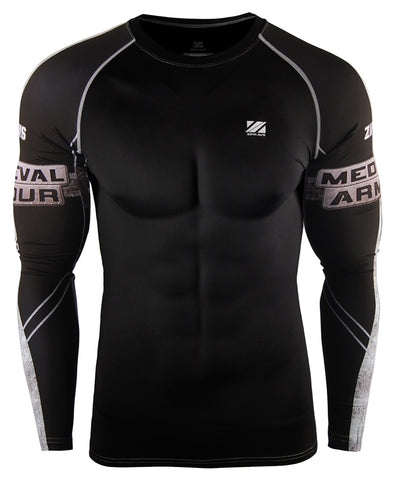 black compression long sleeve rashguard