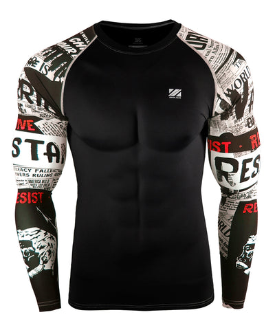 white compression long sleeve shirts