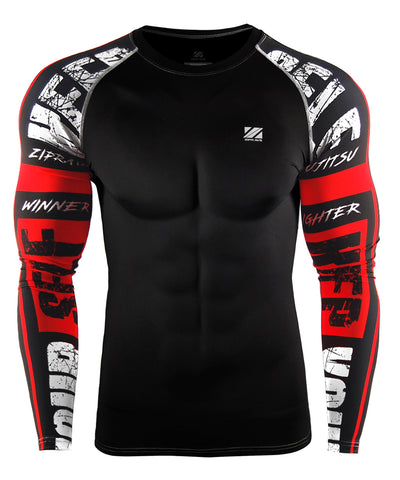 red compression tight fit shirts