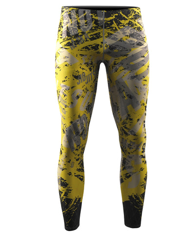 yellow cool dry running leggings tights