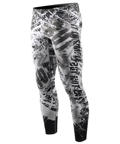 white compression fit tight leggings