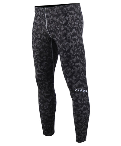 black&gray camo pattern compression tight leggings
