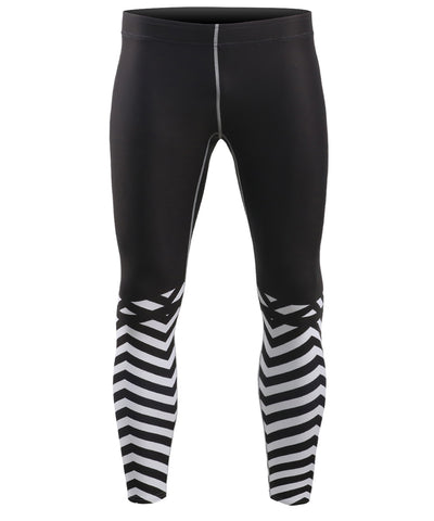 white stripe design compression pants