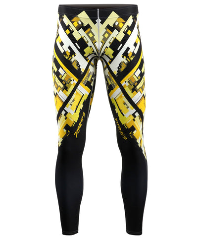 cool compression yellow tights leggings
