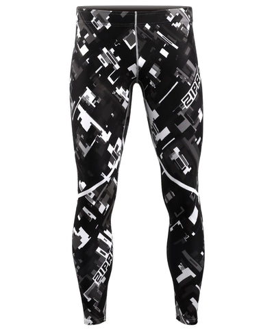 black & white compression pants