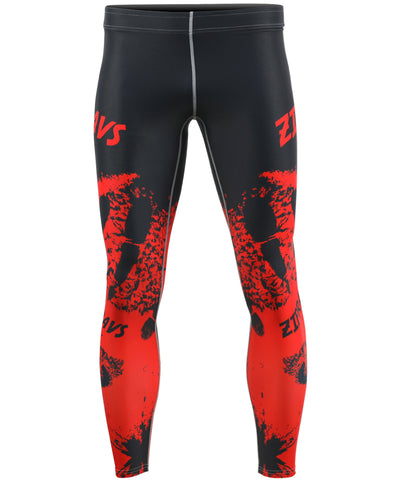 red design compression leggings