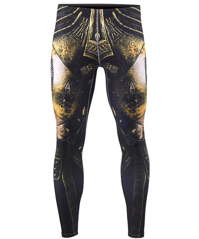 gold knight armor compression leggings