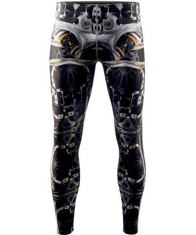 machine unique design tight leggings