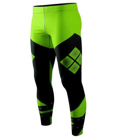 green athletic compression pants
