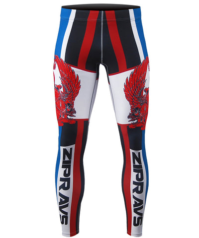 red&blue bjj compression tights